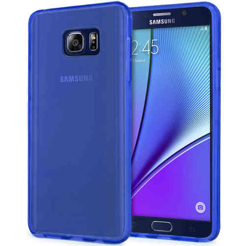 Flexi Gel Case for Samsung Galaxy Note 5 - Smoke Blue (Two-Tone)