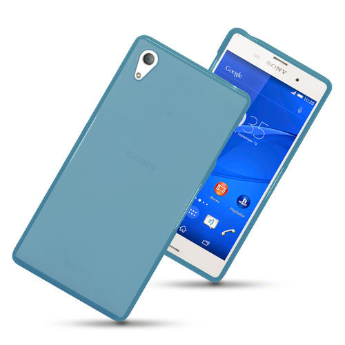 Flexi Gel Case for Sony Xperia Z3 - Smoke Blue (Two-Tone)
