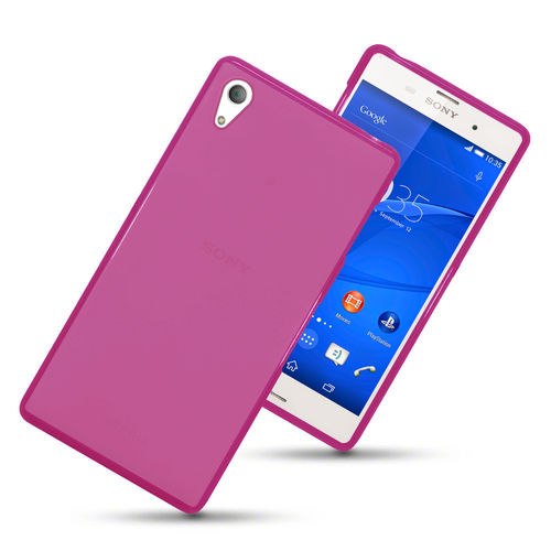 Flexi Gel Case for Sony Xperia Z3 - Smoke Pink (Two-Tone)