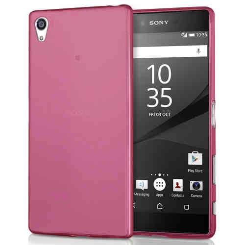 Flexi Gel Case for Sony Xperia Z5 Premium - Smoke Pink (Two-Tone)