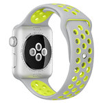 Sport Plus Silicone Band Strap - Apple Watch 38 / 40mm - Grey / Yellow