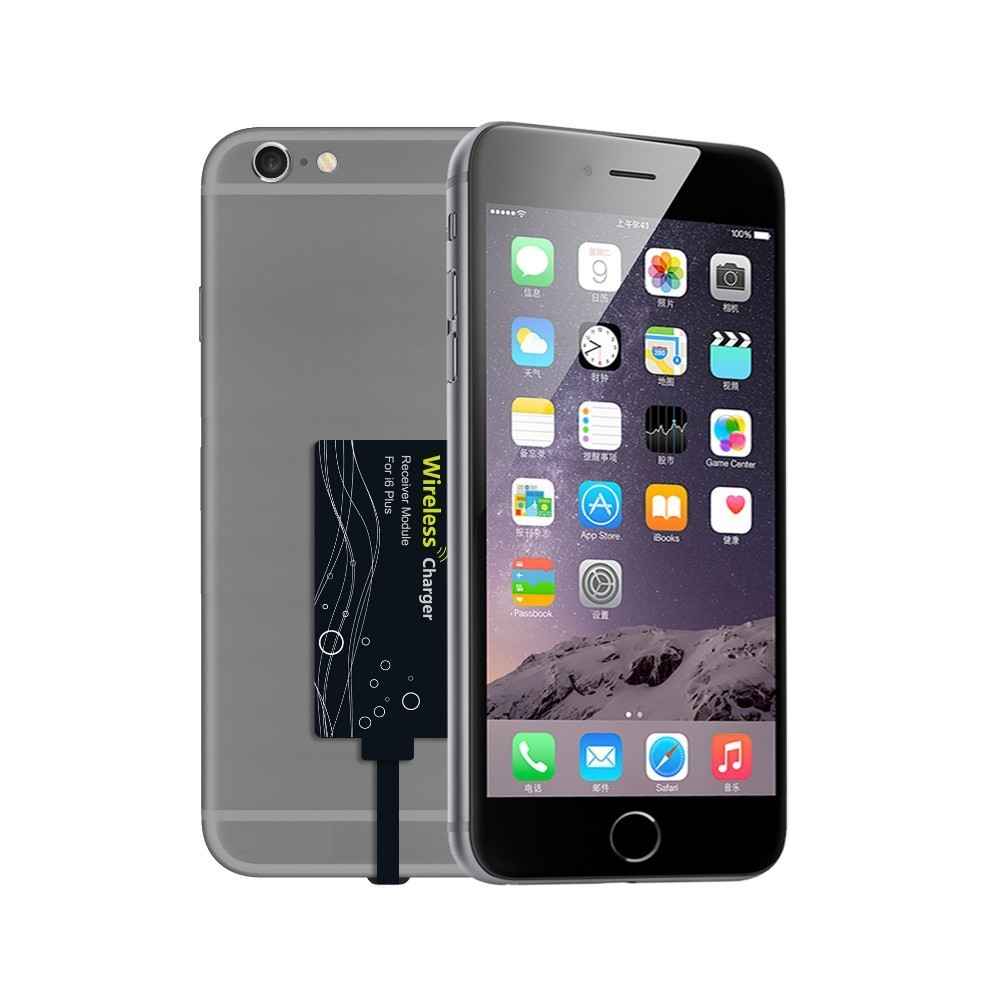 qi wireless receiver card for apple iphone 6s 6s plus. Black Bedroom Furniture Sets. Home Design Ideas