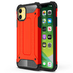 Military Defender Shockproof Case for Apple iPhone 11 - Red