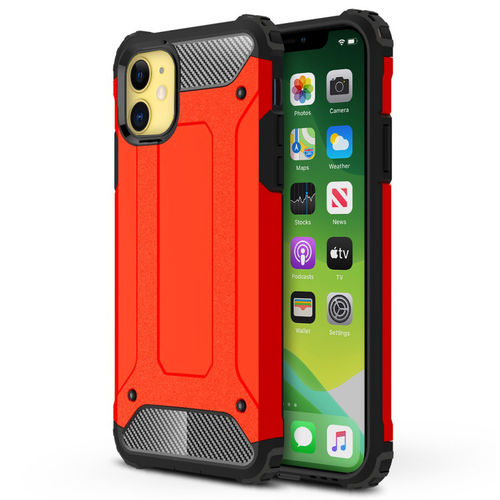 Military Defender Tough Shockproof Case for Apple iPhone 11 - Red