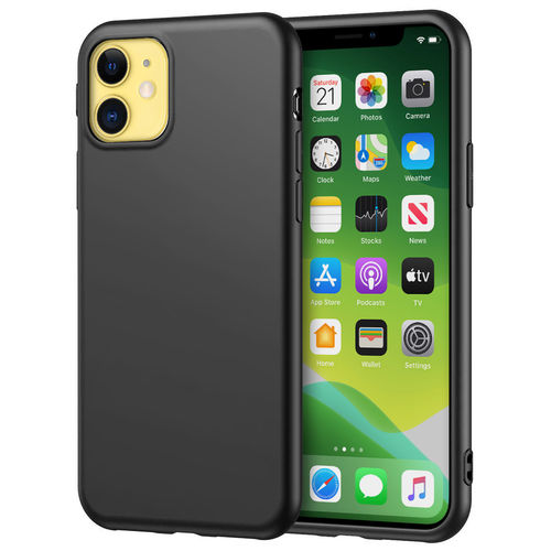 Flexi Silicone Stealth Case for Apple iPhone 11 - Black / Matte