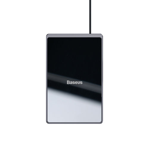 15W Baseus Card Ultra-thin Qi Fast Wireless Charger for Phone - Black