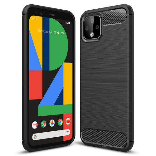 Flexi Slim Carbon Fibre Case for Google Pixel 4 XL - Brushed Black