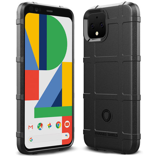 Anti-Shock Grid Texture Shockproof Case for Google Pixel 4 - Black