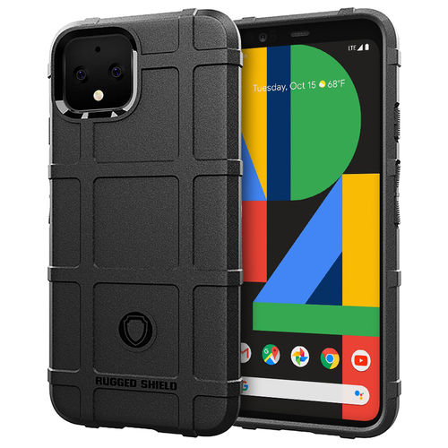 Anti-Shock Grid Texture Shockproof Case for Google Pixel 4 XL - Black