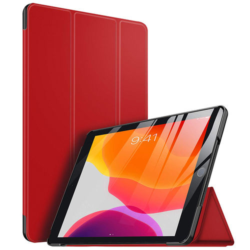 Trifold Sleep/Wake Smart Case for Apple iPad 10.2-inch (7th / 8th Gen) - Red