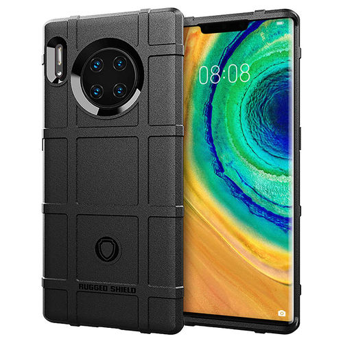 Anti-Shock Grid Texture Tough Case for Huawei Mate 30 Pro - Black