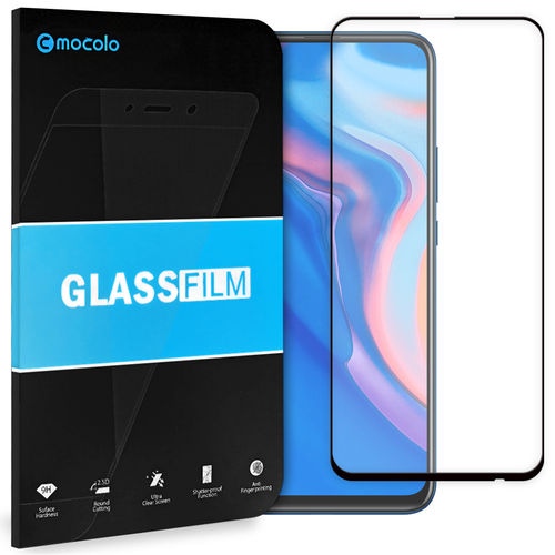 Full Coverage Tempered Glass Screen Protector for Huawei Y9 Prime (2019) - Black