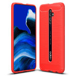 Flexi Slim Carbon Fibre Case for Oppo Reno2 Z - Brushed Red