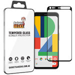 Full Coverage Tempered Glass Screen Protector for Google Pixel 4 - Black