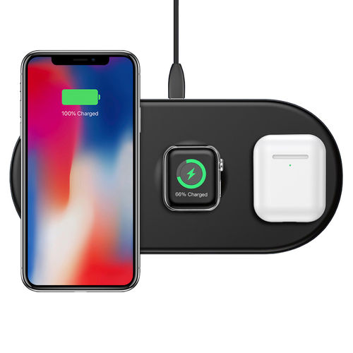 Baseus 3-in-1 Wireless Charger Pad for Apple Watch / iPhone / AirPods - Black