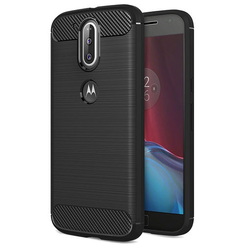 Flexi Slim Carbon Fibre Case for Motorola Moto G4 Plus - Brushed Black