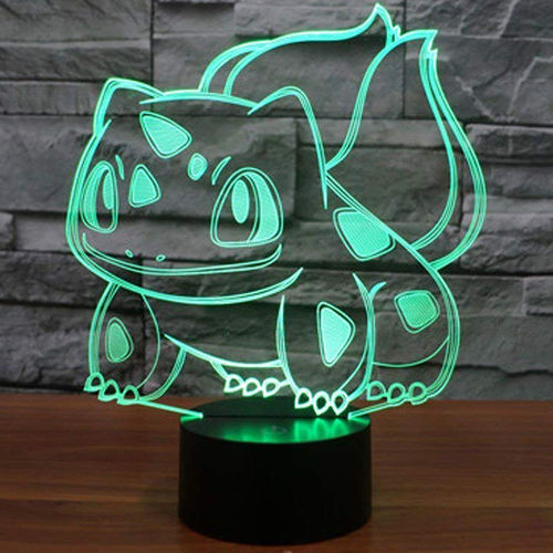 3D Pokemon Bulbasaur LED Desk Lamp Night Light (with Touch Switch)