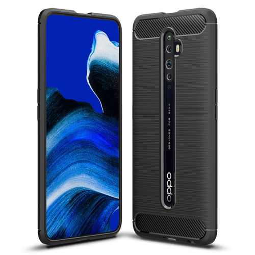 Flexi Slim Carbon Fibre Case for Oppo Reno2 Z - Brushed Black