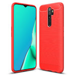 Flexi Slim Carbon Fibre Case for Oppo A9 2020 - Brushed Red