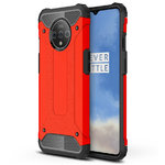Military Defender Tough Shockproof Case for OnePlus 7T - Red
