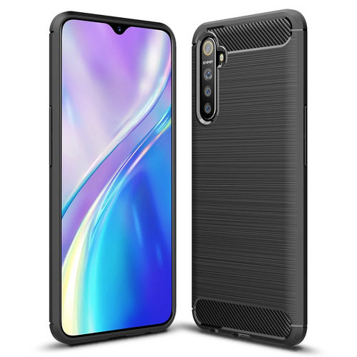 Flexi Slim Carbon Fibre Case for realme XT - Brushed Black