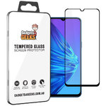 Full Coverage Tempered Glass Screen Protector for realme 5 - Black