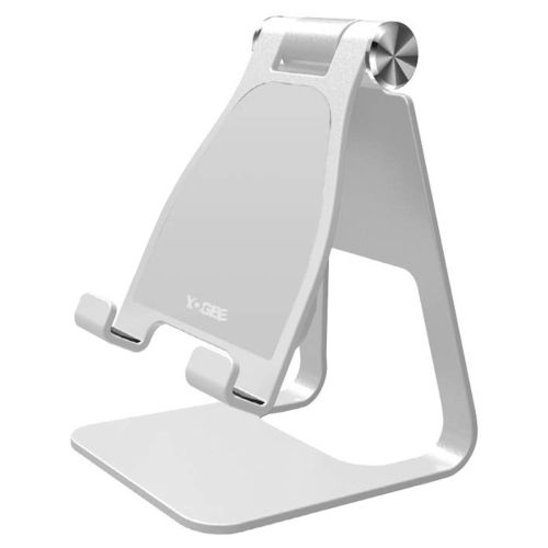 Yogee 10W Qi Fast Wireless Charger / Adjustable Desktop Stand for Phone - Silver