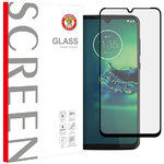 Full Coverage Tempered Glass Screen Protector for Motorola Moto G8 Plus - Black