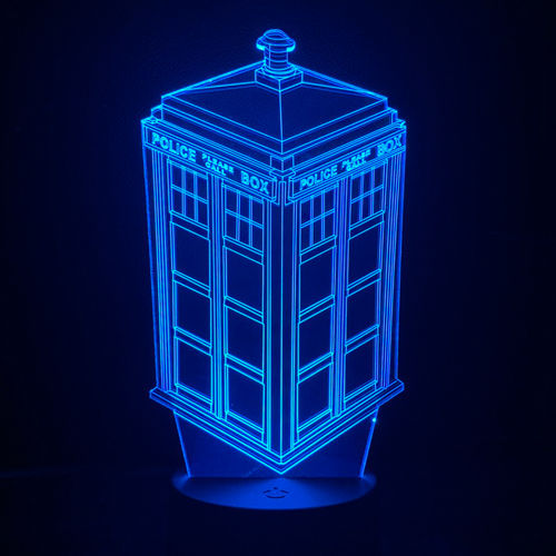 3D Doctor Who Tardis LED Desk Lamp / Night Light / Touch Switch