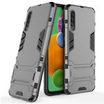 Slim Armour Tough Shockproof Case & Stand for Samsung Galaxy A90 5G - Grey