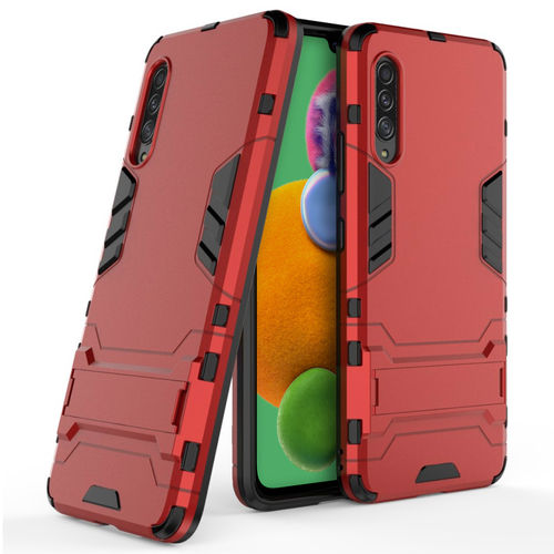 Slim Armour Tough Shockproof Case & Stand for Samsung Galaxy A90 5G - Red