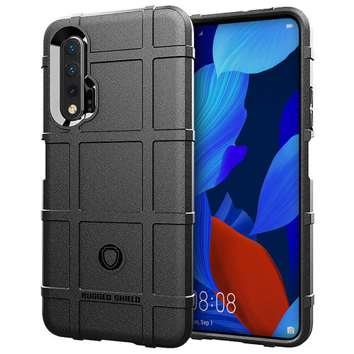 Anti-Shock Grid Texture Shockproof Case for Huawei Nova 5T - Black