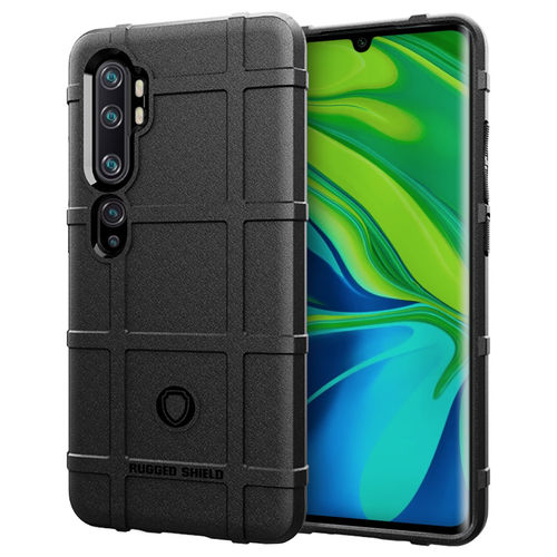 Anti-Shock Grid Texture Shockproof Case for Xiaomi Mi Note 10 Pro - Black