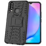 Dual Layer Rugged Tough Shockproof Case for Vivo Y17 / Y12 - Black