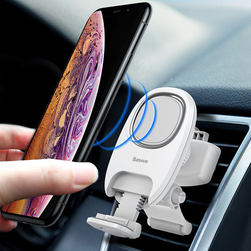Baseus Adjustable Magnetic Car Air Vent Mount Holder for Mobile Phone - White