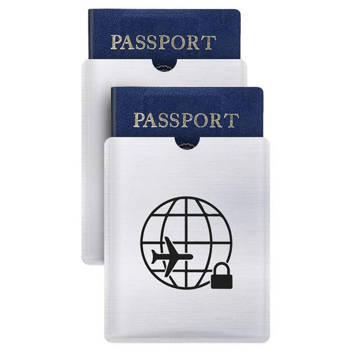 (2-Pack) Anti-Theft RFID Blocking Travel Passport Protective Sleeve