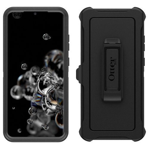 OtterBox Defender Shockproof Case & Belt Clip for Samsung Galaxy S20 Ultra - Black