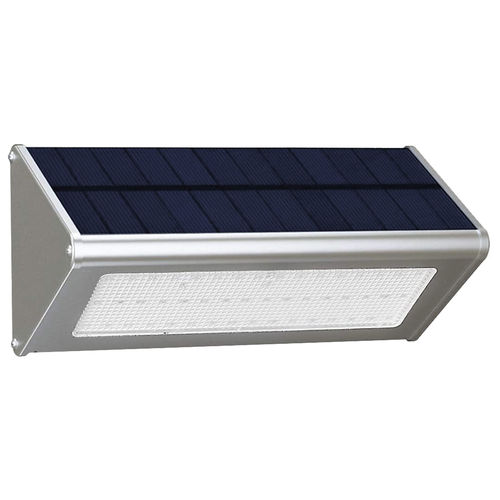 800 LM Aluminium Outdoor Garden Wall Light / Motion Sensor / Solar Panel / 48 LED