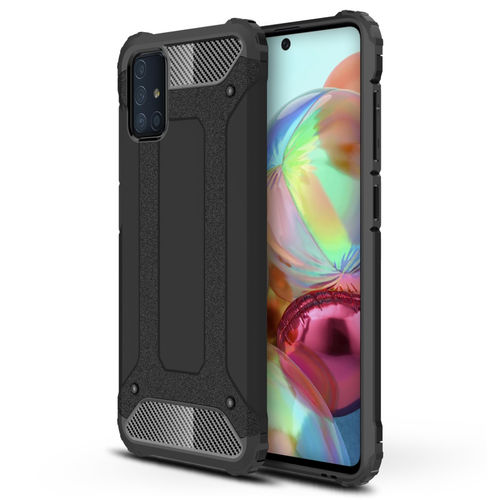 Military Defender Tough Shockproof Case for Samsung Galaxy A71 - Black