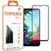 Full Coverage Tempered Glass Screen Protector for LG K40S - Black