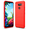 Flexi Slim Carbon Fibre Case for LG K40S - Brushed Red