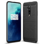 Flexi Slim Carbon Fibre Case for OnePlus 7T Pro - Brushed Black