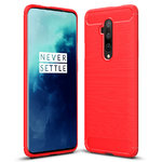 Flexi Slim Carbon Fibre Case for OnePlus 7T Pro - Brushed Red