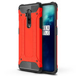 Military Defender Tough Shockproof Case for OnePlus 7T Pro - Red