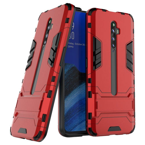 Slim Armour Tough Shockproof Case & Stand for Oppo Reno2 Z (Red)
