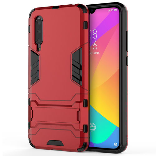 Slim Armour Tough Shockproof Case & Stand for Xiaomi Mi 9 Lite - Red