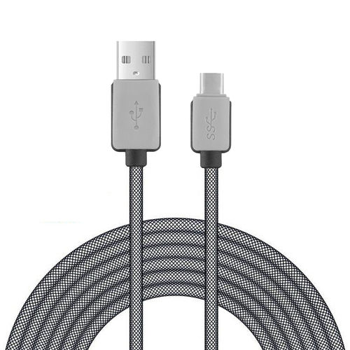 Extra Long Anti-tangle Nylon Mesh Type-C to USB 3.0 Charging Cable (3m)
