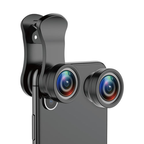 Baseus Magic Clip-on Camera Lens / Fisheye / HD Wide Angle / 15x Macro for Phone