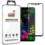 Full Coverage Tempered Glass Screen Protector for LG G8S ThinQ - Black