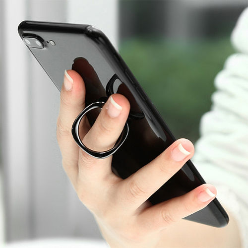 Baseus Privity Metal Finger Ring Holder & Desktop Stand for Phone - Black